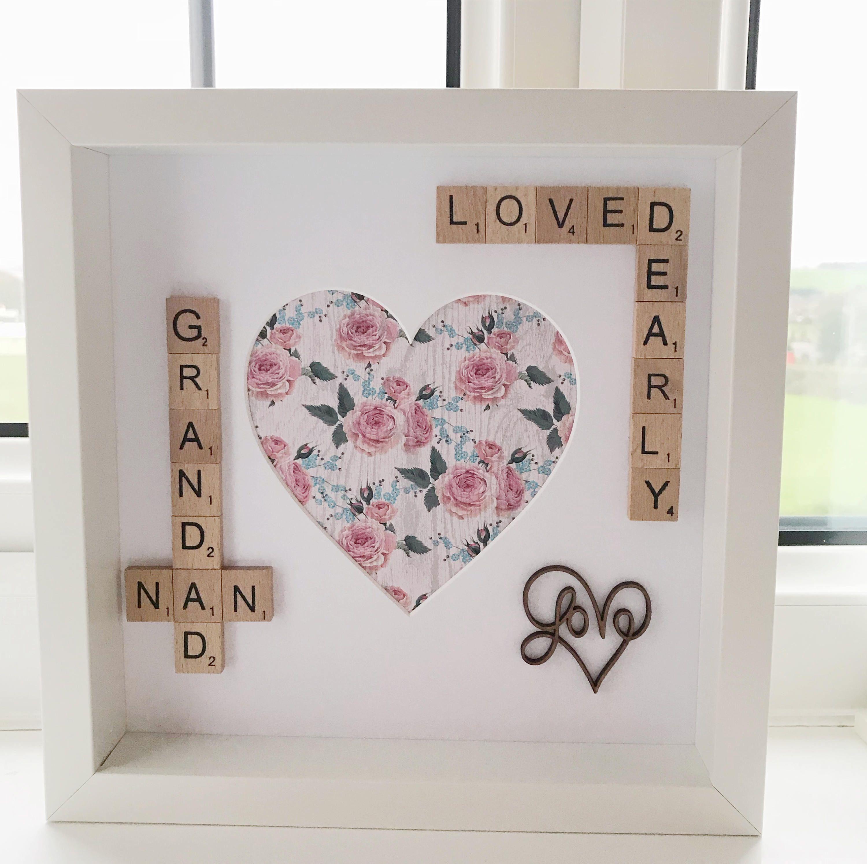 Nan Grandad Scrabble Photo Box Frame. Nan Nana Grandma Gift ...
