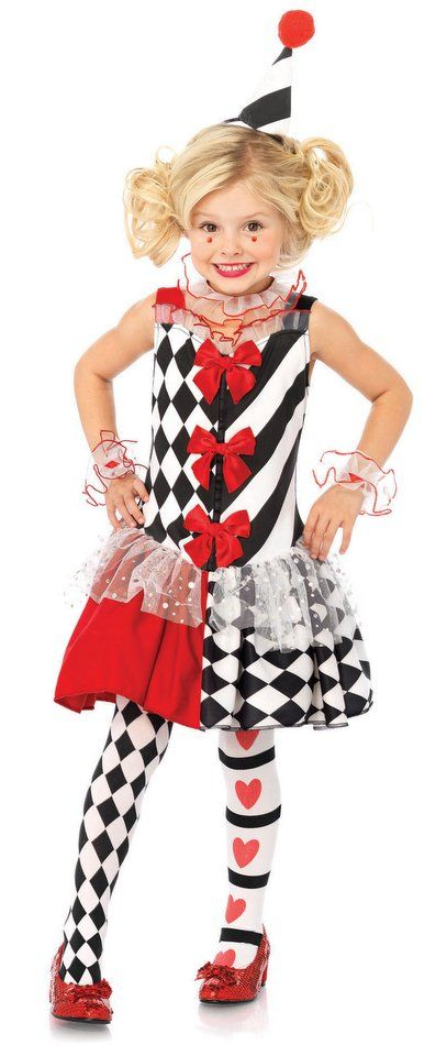 Girl S Harlequin Clown Costume Candy Apple Costumes