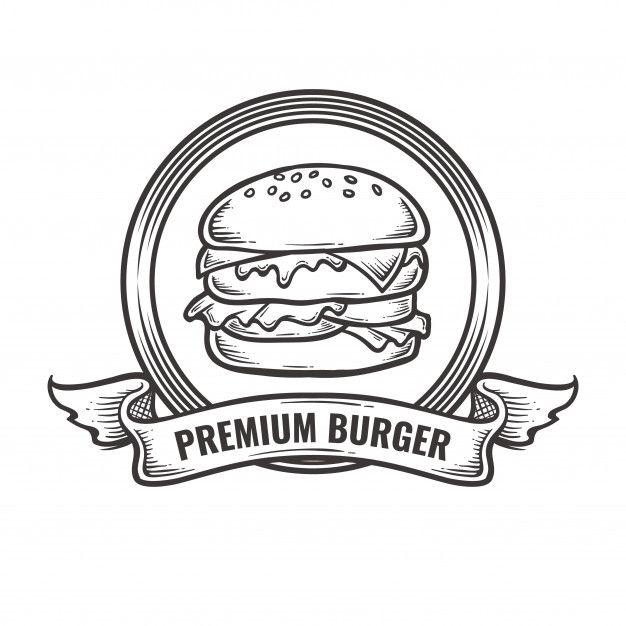 Vintage Burger Logo In 2020 Vintage Logo Organic Food Logo Food Logo Design