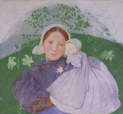 Pre-Raphaelite Marianne Stokes Tearful Little Girl Counted Cross Stitch Pattern