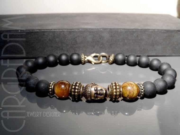 Bracelet shamballa homme bouddha