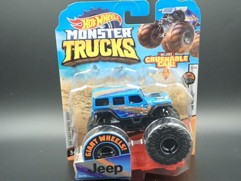 2020 Mattel Hot Wheels Monster Trucks Jeep 4 Door 1 64 Hw Metro 7 10 33 75 Hotwheels In 2020 Mattel Hot Wheels Monster Trucks Hot Wheels