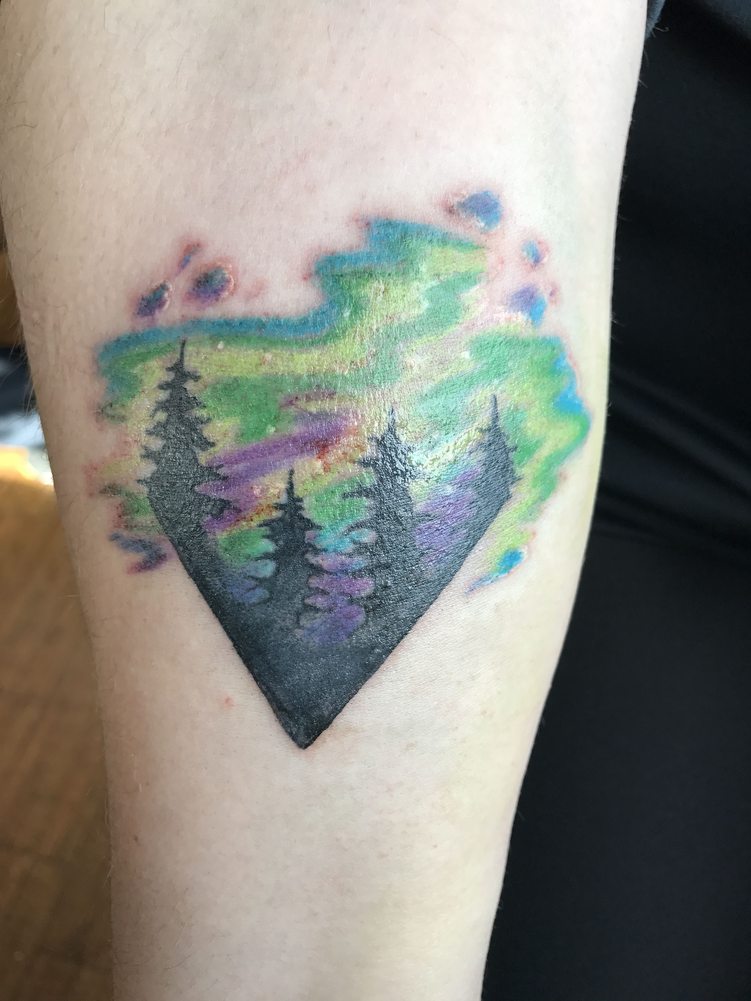 Watercolor Northern Lights | Tattoo Ideas | Northern lights tattoo ...