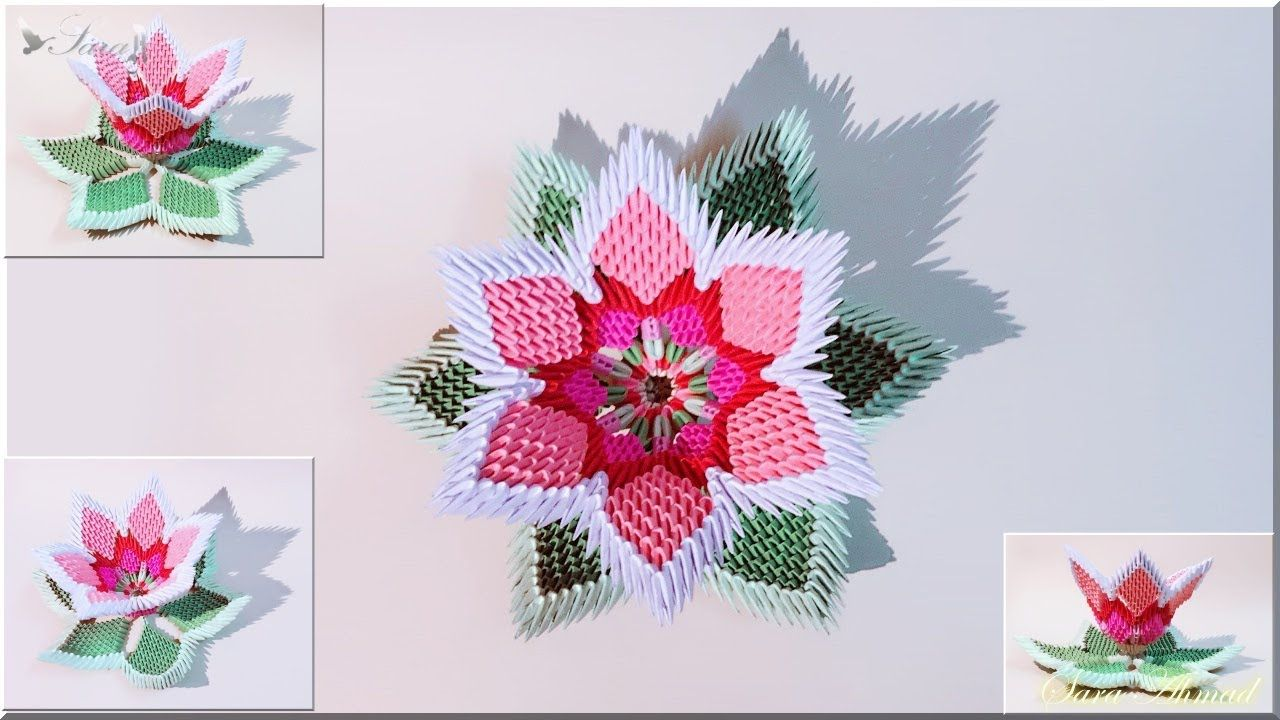 How To Make 3d Origami Flowe 5 Origami Pinterest 3d Origami