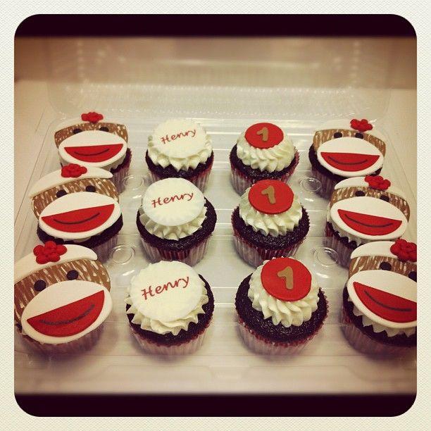 Sock Monkey Cupcakes By Polkadot Cupcakery Bday Party Kids Kids