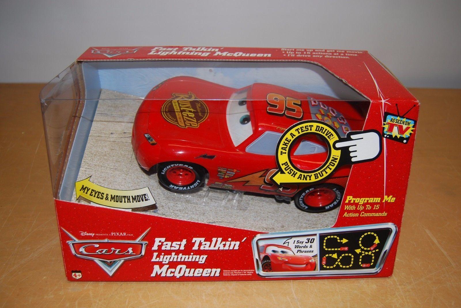 Disney Fast Talkin Lightning Mcqueen Rc Car Mib Programable - Lightning mcqueen custom vinyl decals for carlightning mcqueen camaro car decals unique items racing