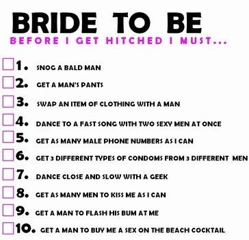 Cute Idea Except I Would Use Way Diffe Things That The Bride Must Do