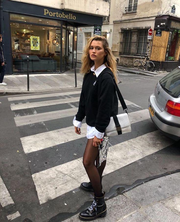 London Grunge Mode | Outfit Inspiration | Stilvolle Outfit-Ideen für Frauen, die … #90sgrunge – Street Style