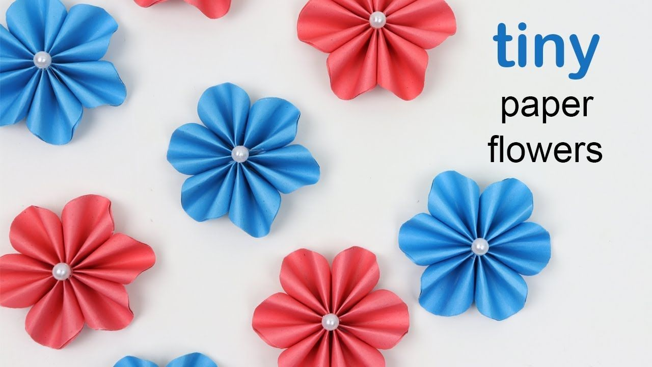 Diy How To Make Easy Tiny Paper Flowers Paper Flowers Diy Easy Paper Flowers Paper Flower Tutorial