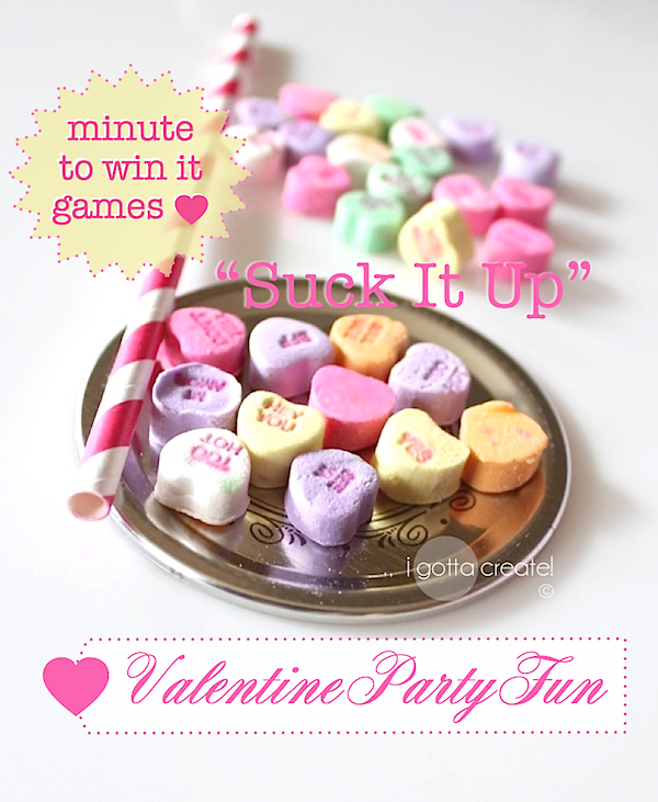 valentines day classroom game ideas - Valentine Minute To Win It Games