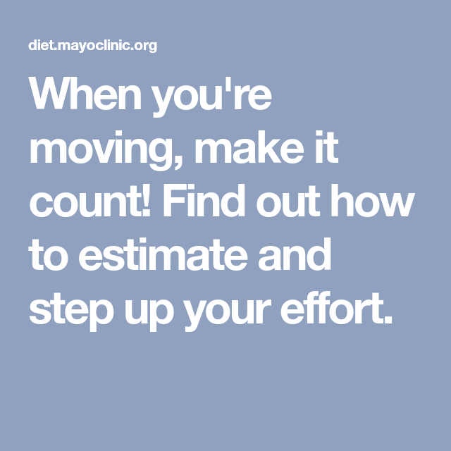 When you're moving, make it count! Find out how to ...