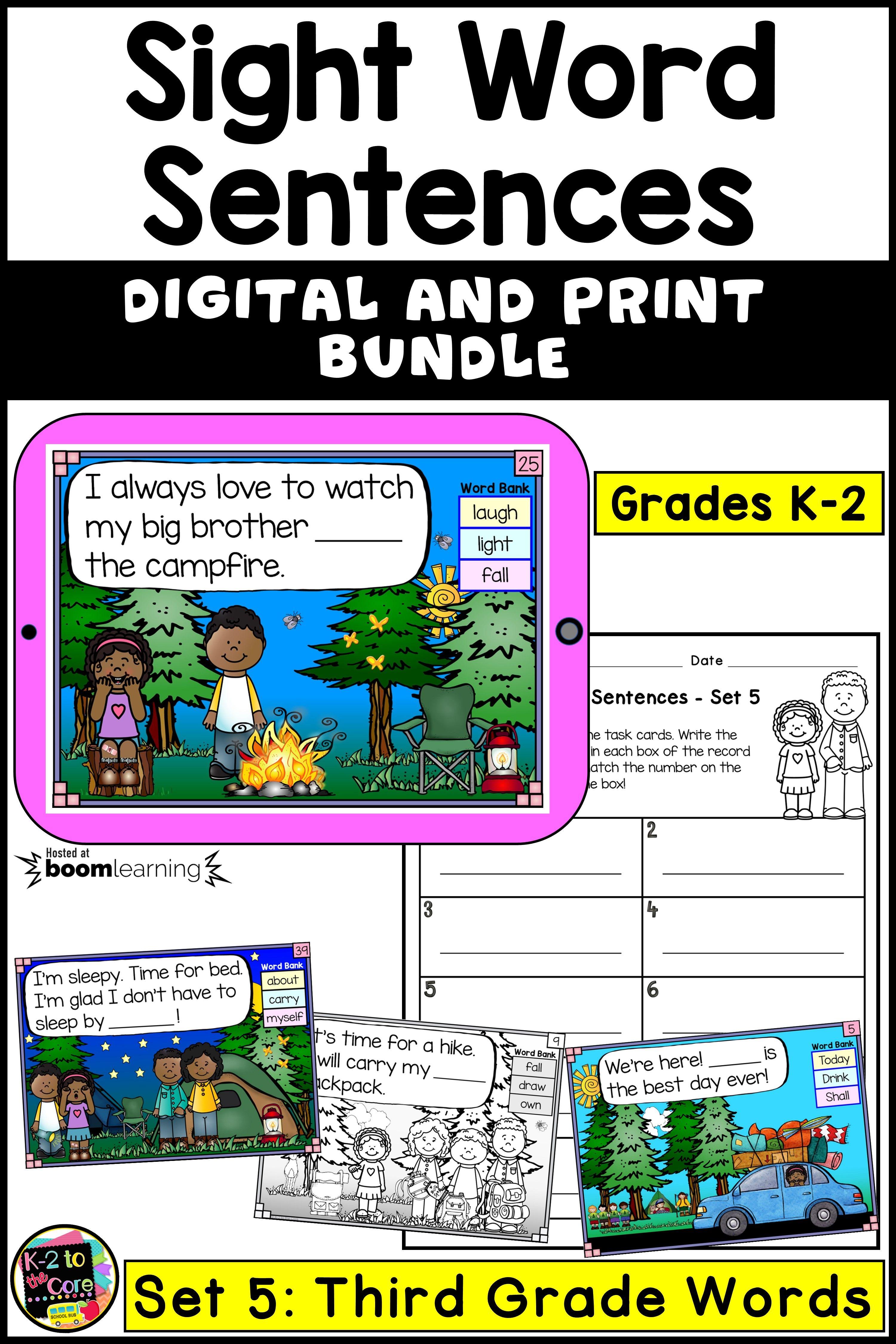 Boom Cards Digital Amp Printable Task Cards For K 2 Sight