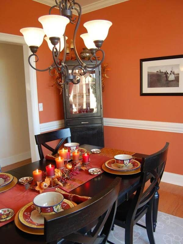Best Thanksgiving Table Decoration Ideas From Pinterest Thanksgiving Dining Table Decor Dining Table Decor Thanksgiving Dining Room Decor