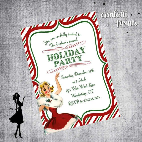 Free Printable Holiday Party Invitation Templates Christmas