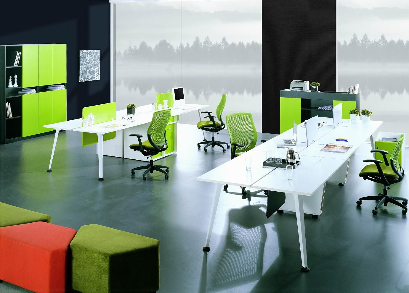 Staff desk table new design modern powder coated office for Office new design