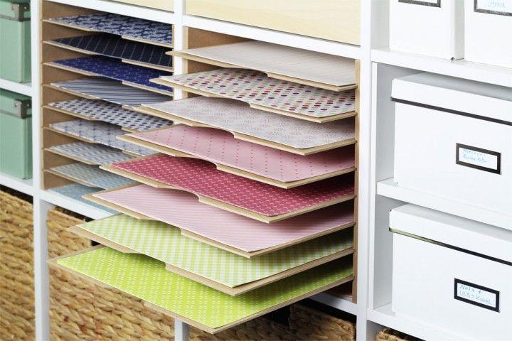 Ikea Kallax Fachteiler Für 12 Scrapbook Papier