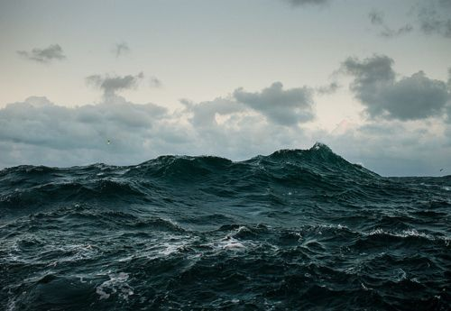 Mountains in the ocean .