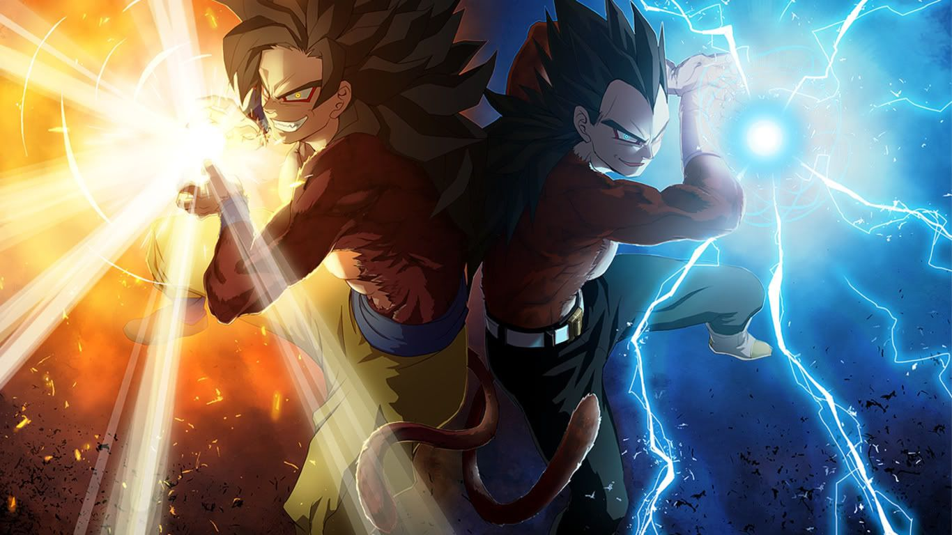 Goku And Vegeta Just Goes To Show Two Enemies Can Become Friends Both Are Super Sayain 4 In The Photo The Dragon Ball Wallpapers Dragon Ball Goku And Vegeta