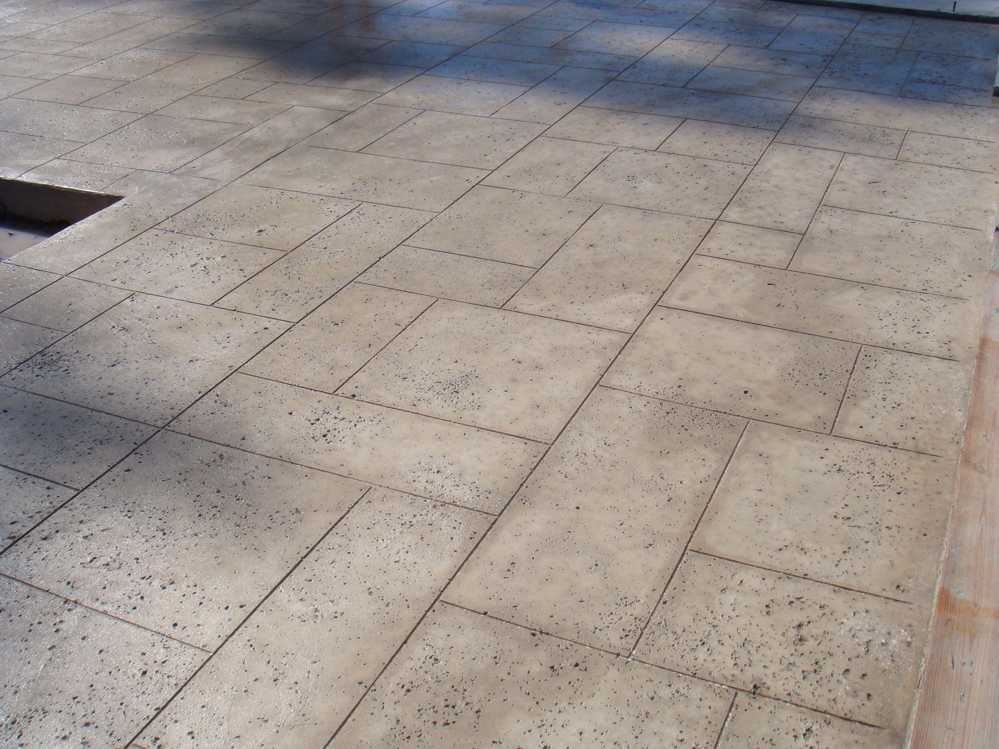 Exterior decorative concrete a salt finish design