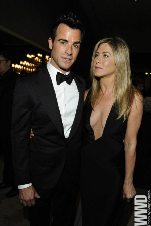 Justin Theroux and Jennifer Aniston, both in Tom Ford at the LACMA Art + Film Gala.