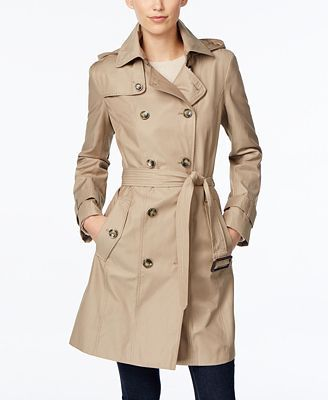 27a63abbe London Fog Hooded All-Weather Double-Breasted Trench Coat Want ...