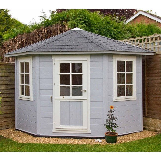 details about premium garden summerhouse 8 x 8 log cabin storage shed door windows roof floor - Garden Sheds 7x6