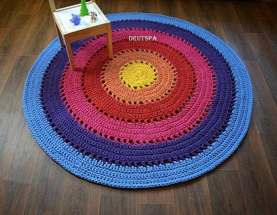 Badezimmerteppich rund ~ Promotion rainbow cotton round kids carpet teppich rund baby
