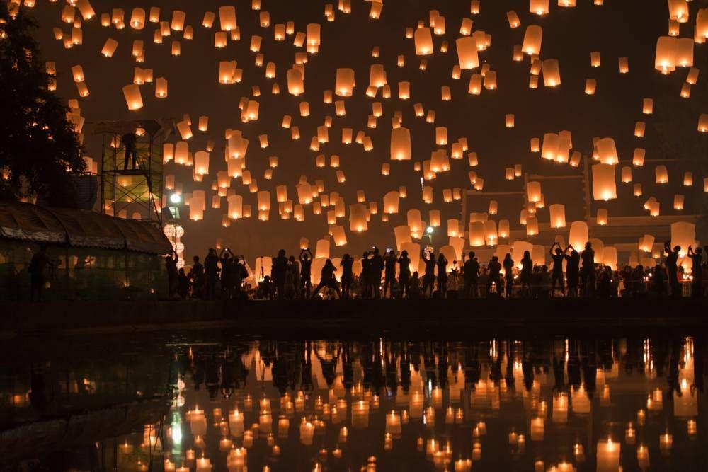 Glittering lights at diwali hd wallpaper