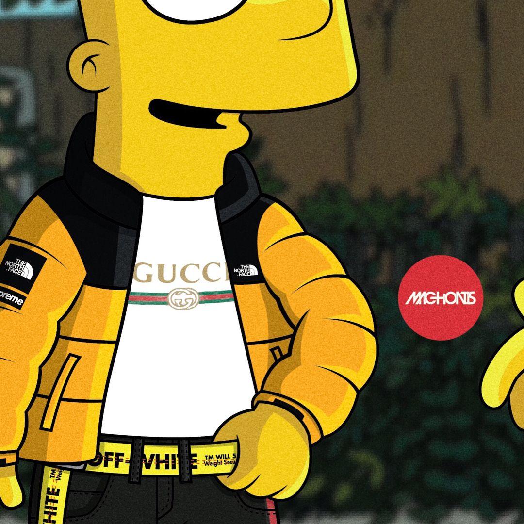 Pinterest Adc Interesting Wallpaper Simpsons Art Swag Cartoon