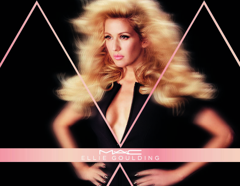 Go from girly to bombshell with this range of pink and peach cosmetics from MAC and Ellie Goulding.