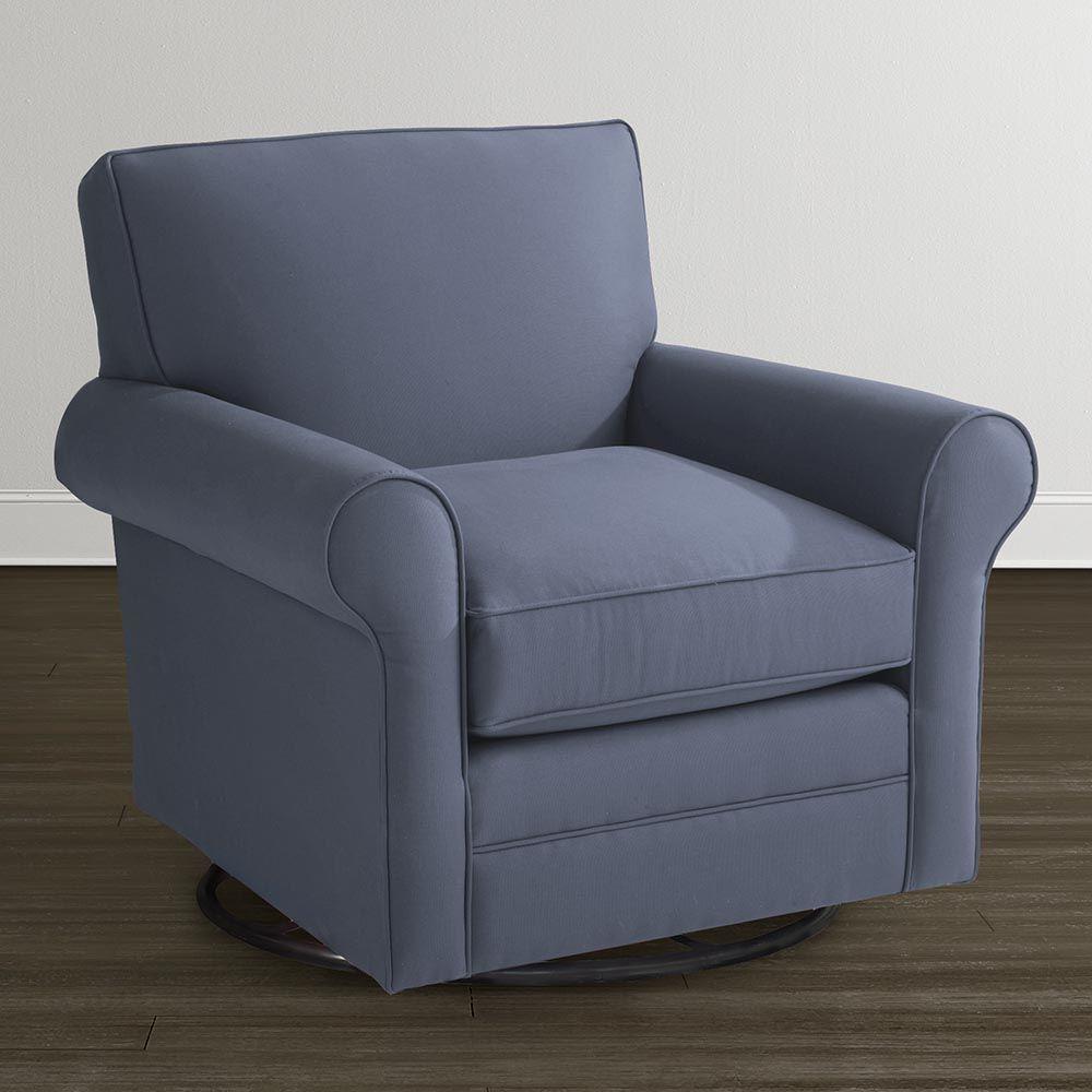 buy classic upholstered swivel glider chair at bassett furniture