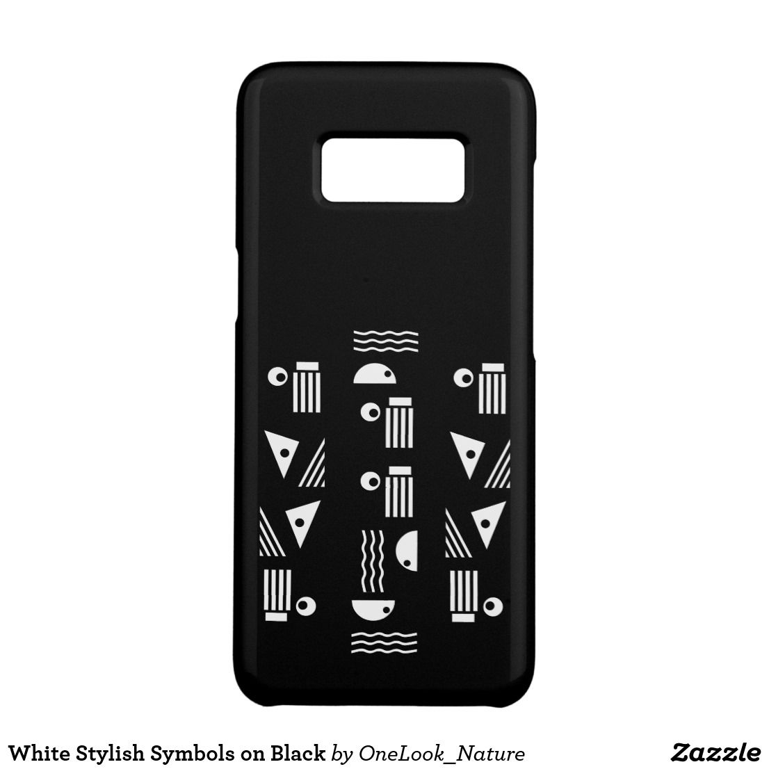 White Stylish Symbols On Black Case Mate Samsung Galaxy S8 Case