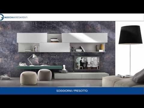 Soggiorni / Presotto - YouTube | Video Ginocchi Arredamenti | Wall ...