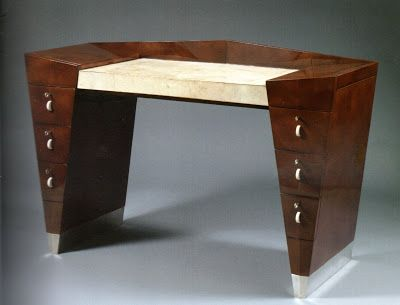 An Exceptional Cubist Desk (1930) By French Furniture Designer Léon Jallot  At Gallery Lefebvre