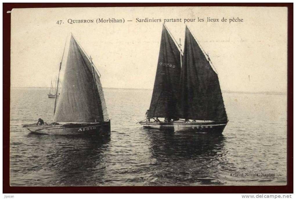 Sardiniers Partant Pour Les Lieux De Peche Quiberon Quiberon