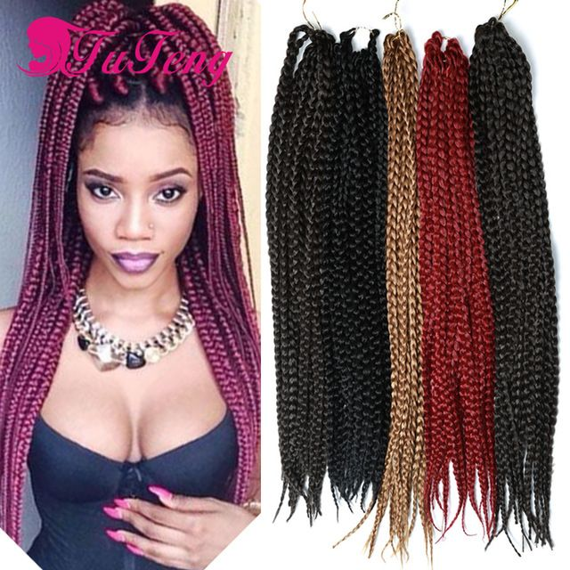 box braids hair ombre expression braiding hair senegalese ...