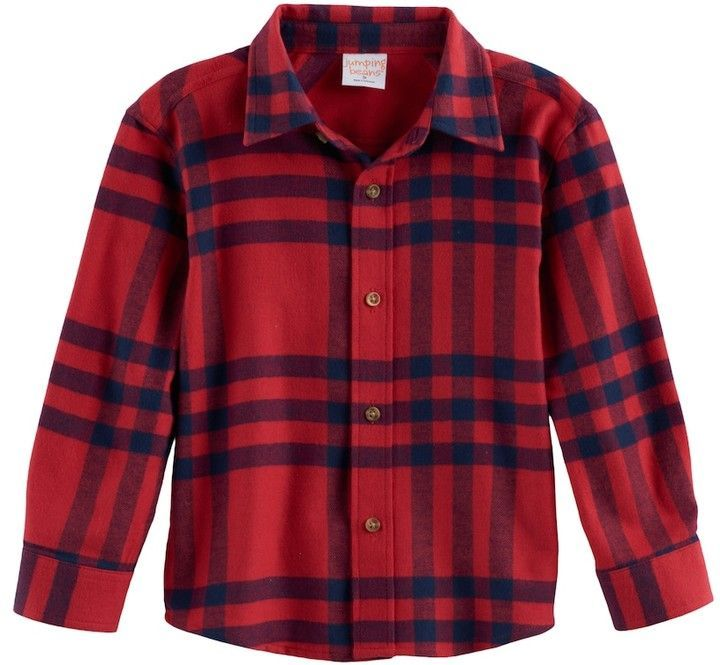 d31594dc5 Baby Boy Jumping Beans® Plaid Flannel Button Down Top | Products ...