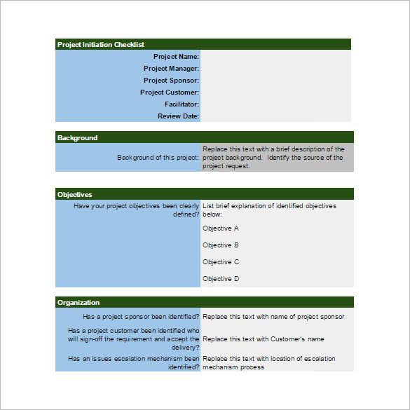 Project Initiation Checklist Spreadsheet Template Budget - Google docs checklist