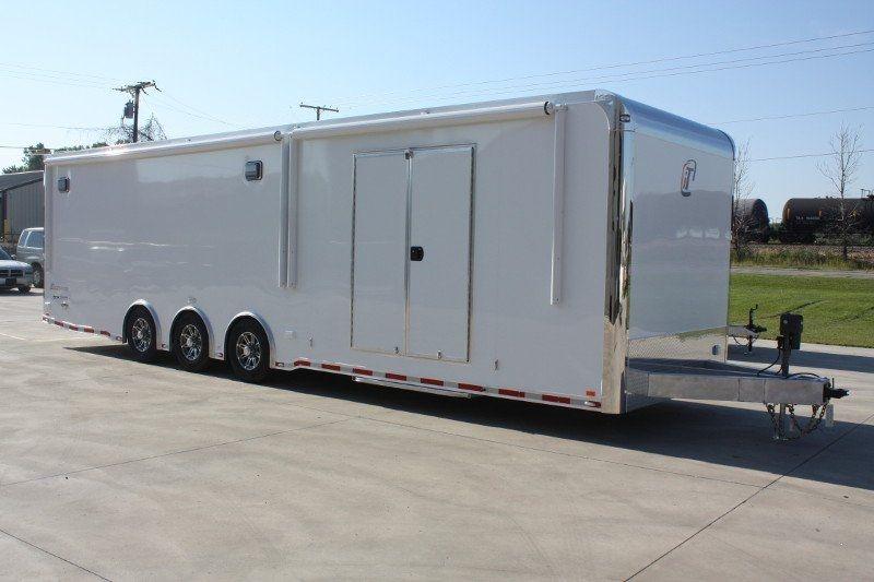 32' triple 6,000lb. axles aluminum race car trailer with