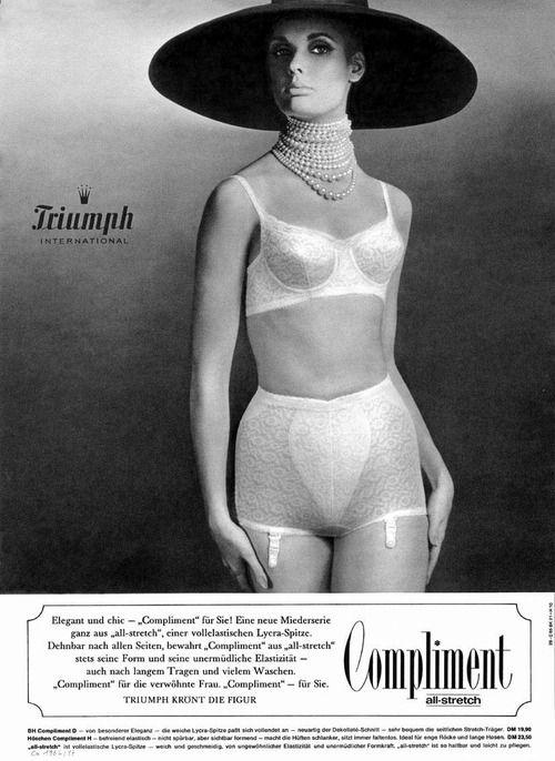 aab12f7a2db94 Triumph lingerie advert, 1960s | Triumph | Lingerie, Retro lingerie ...