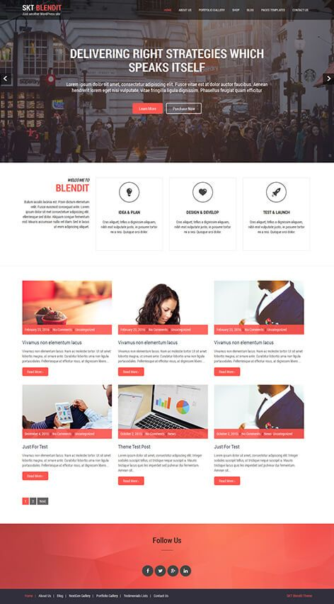 Simple And Easy To Use Single Free One Page Wordpress Theme For All Kinds Of Business Free Wordpress Templates Wordpress Theme Free Wordpress Themes
