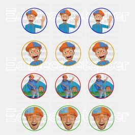 Blippi Edible Cupcake Toppers (12 Images) Cake Image Icing Sugar Sheet Edible Cake Images #pictureplacemeant