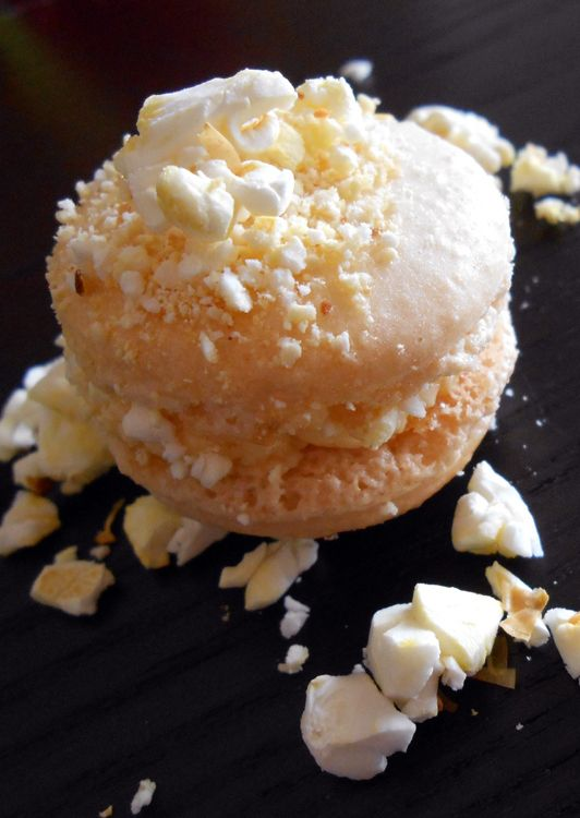 Salted Caramel Popcorn Macaron | food > sweets > macarons ...