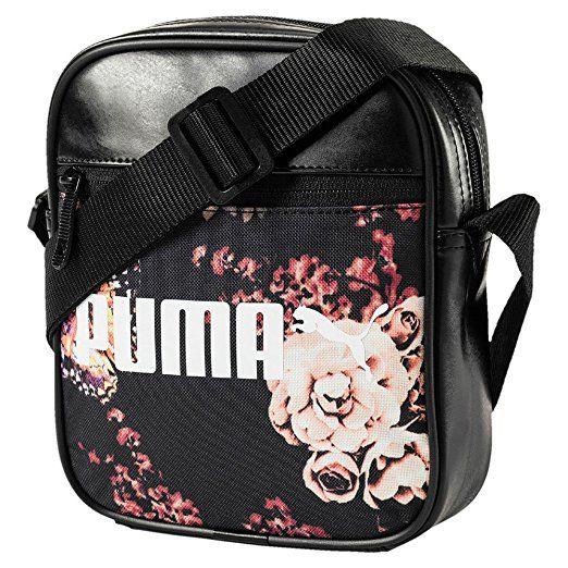 PUMA Campus Portable Umhängetasche, Puma Black Flower