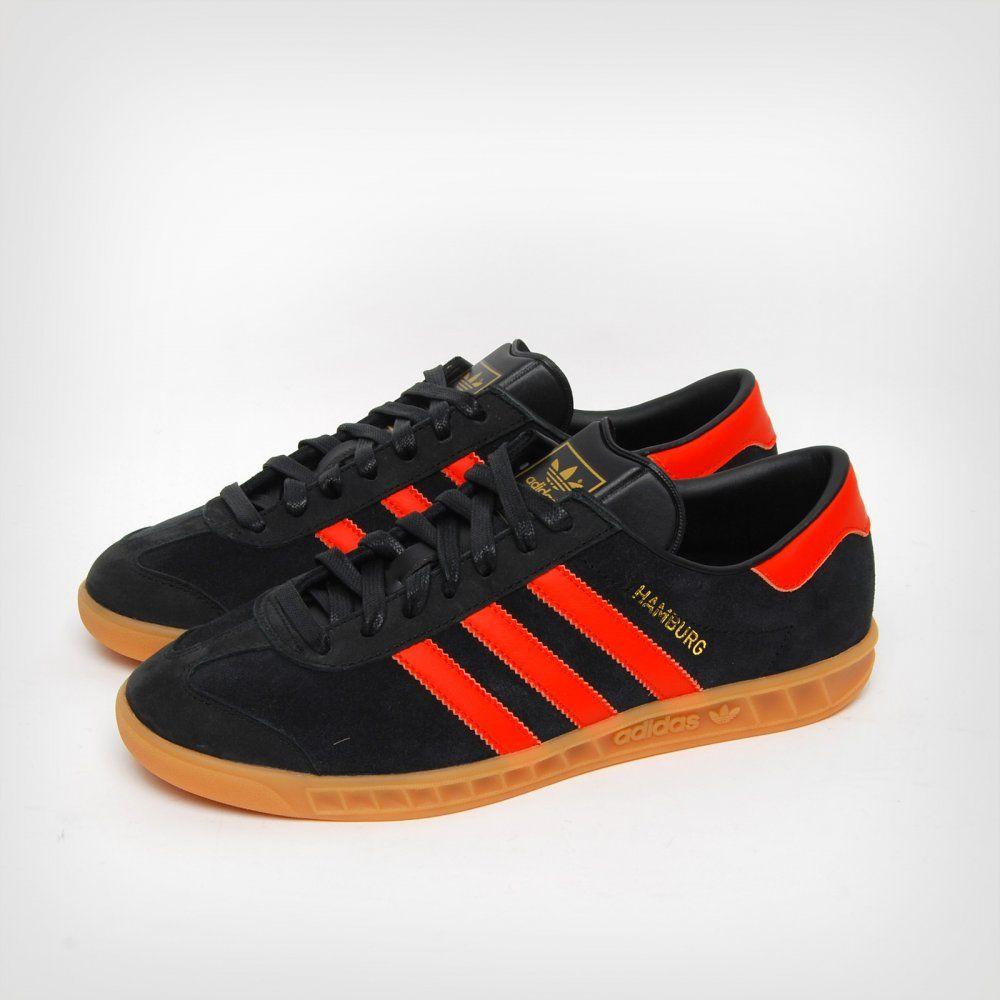 Adidas Hamburg Black & Orange | Adidas hamburg, Adidas