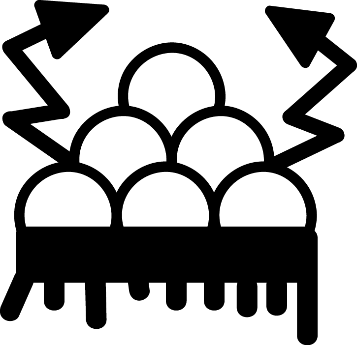 Native Pueblo Symbol For Cloud With Rain And Lightning Symbol For