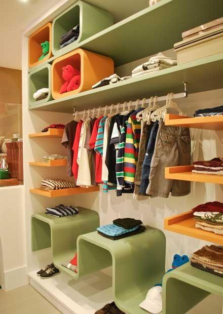Armarios Casas Bahia De Aço ~ 211 o armario aberto da suite do menino foto juliana c Coisas para minha casa Pinterest