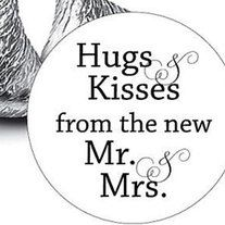 108 Hugs and Kisses from the new Mr & Mrs.Hershey Kiss