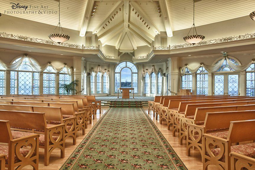 The Interior Of Wedding Pavilion At Walt Disney World Again A Location That Doesn T Need Much Decoration To Be Beautiful And Cinderella S Castle Can