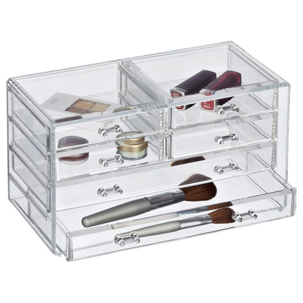 Nice 6 Drawer Premium Clear Acrylic Chest. Acrylic OrganizerStorage IdeasMake  UpThe ContainerContainer StoreMakeup ...